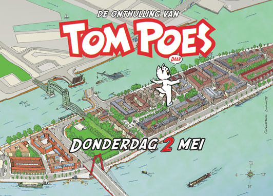 Onthulling Tom Poes op 2 mei 2013