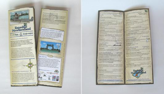 De folder voor Expeditie Noordereiland