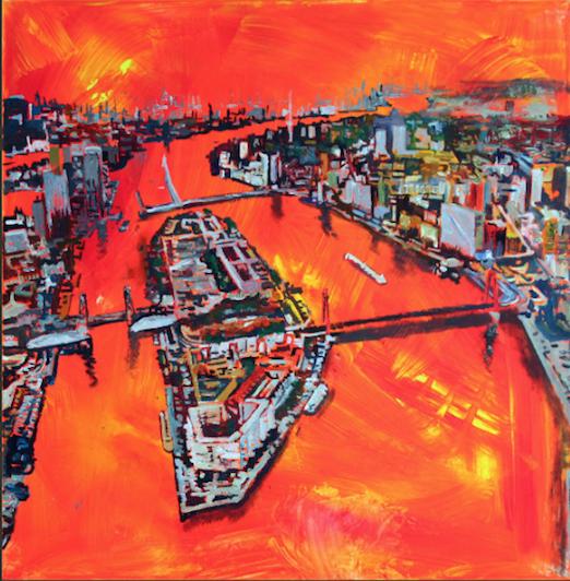 Expositie van eilandkunstenaar Hans Kok
